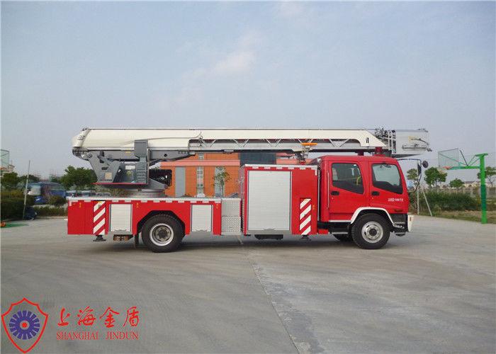 Stainless Steel Fire Pump Aerial Platform Fire Truck , Wheel Base