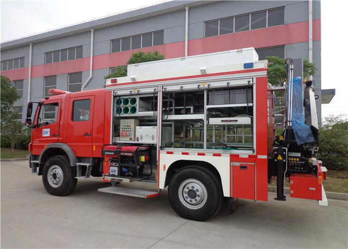 Gross Weight 14900kg Fire Equipment Truck , Max Speed 100KM/H Tanker