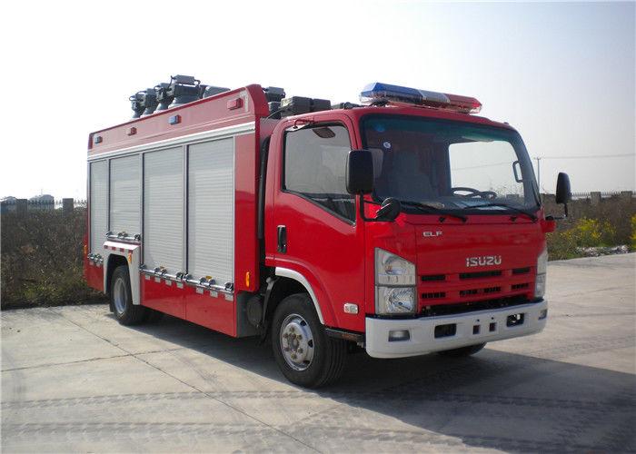 4x2 Chassis 260 L/Min Flow Light Fire Truck Halogen Lamp Tanker Fire Truck